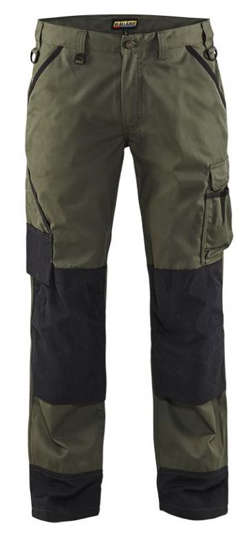 Blaklader 1454 Garden Trousers (Army Green/Black)